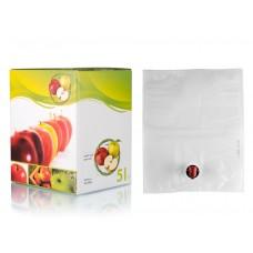 BAG IN BOX 5L za sok 5 kos (vrečka v. vog.+ karton motiv jabolko)