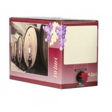 BAG IN BOX - KARTON 10L za rdeče vino 10 kos