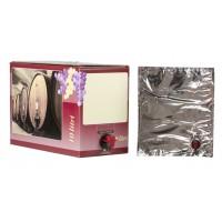 BAG IN BOX 10L za vino 5 kos (vrečka v. vog. + karton rdeč)