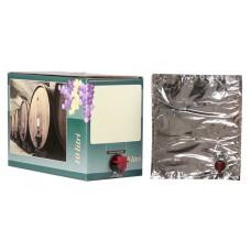 BAG IN BOX 10L za vino 5 kos (vrečka v. vog. + karton zelen)