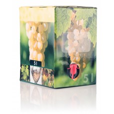 BAG IN BOX - KARTON 5L za belo vino 10 kos