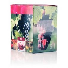 BAG IN BOX - KARTON 5L za rdeče vino 10 kos