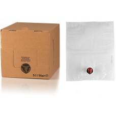 BAG IN BOX 5L za sok 5 kos (vrečka v. sr. + karton ležeči)