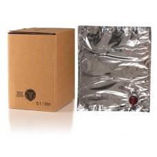 BAG IN BOX 5L za vino 5 kos (vrečka v. vog. + karton stoječi)