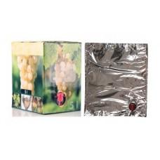 BAG IN BOX 5L za vino 5 kos (vrečka v. vog. + karton beli)